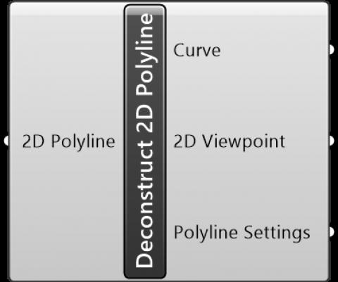 Deconstruct 2D Polyline