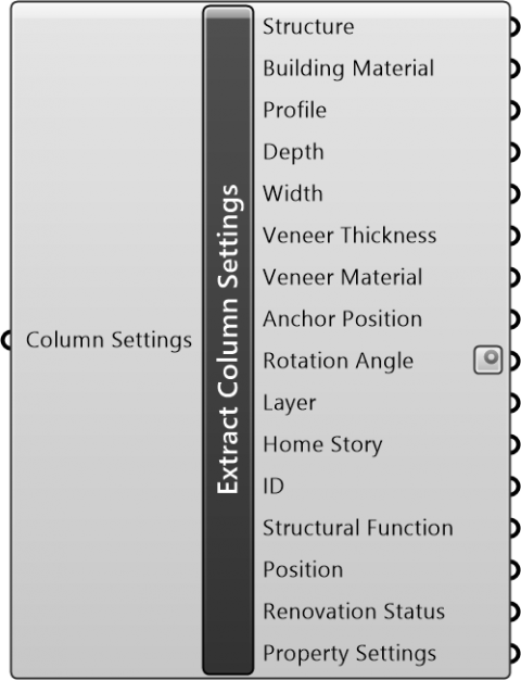 Extract Column Settings