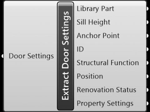 Extract Door Settings