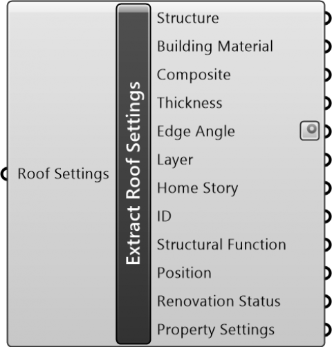 Extract Roof Settings