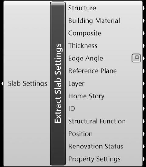 Extract Slab Settings