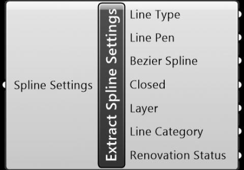 Extract Spline Settings