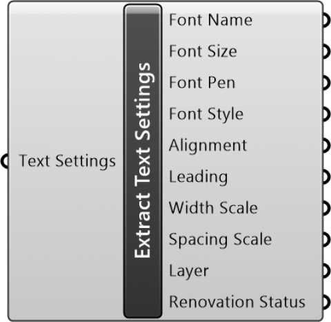 Extract Text Settings