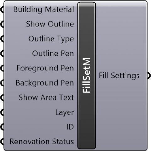 Fill Settings Material
