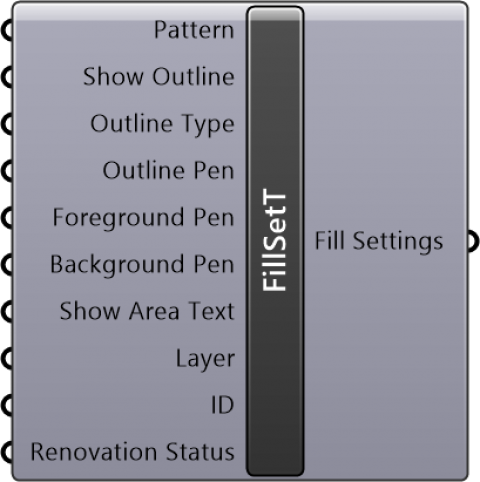 Fill Settings Cut