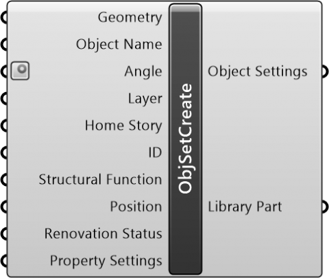 Object Settings Create