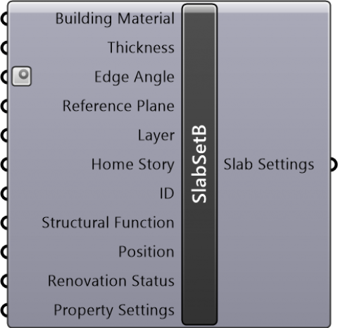 Slab Settings Basic