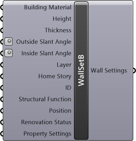 Wall Settings Basic(Geometry Method=Straight / Reference Line Location=Center)