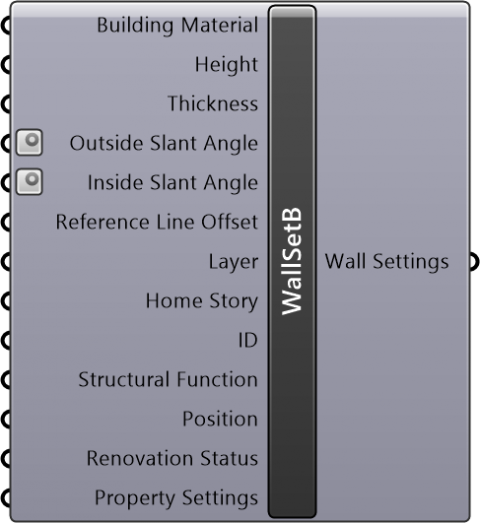 Wall Settings Basic(Geometry Method=Straight / Reference Line Location=Outside Face or Inside Face)
