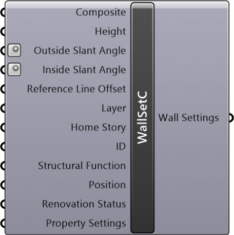 Wall Settings Composite(Geometry Method=Straight / Reference Line Location=Outside Face or Inside Face or Core Outside or Core Inside)