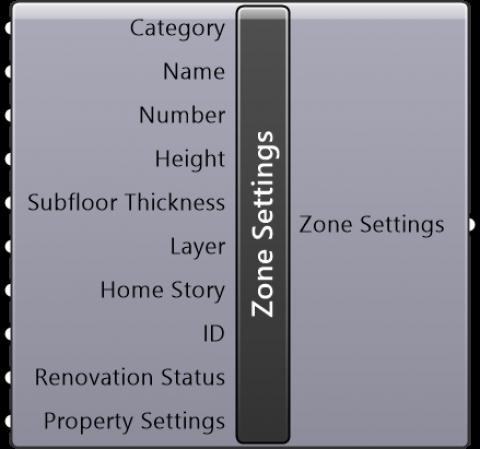 Zone Settings